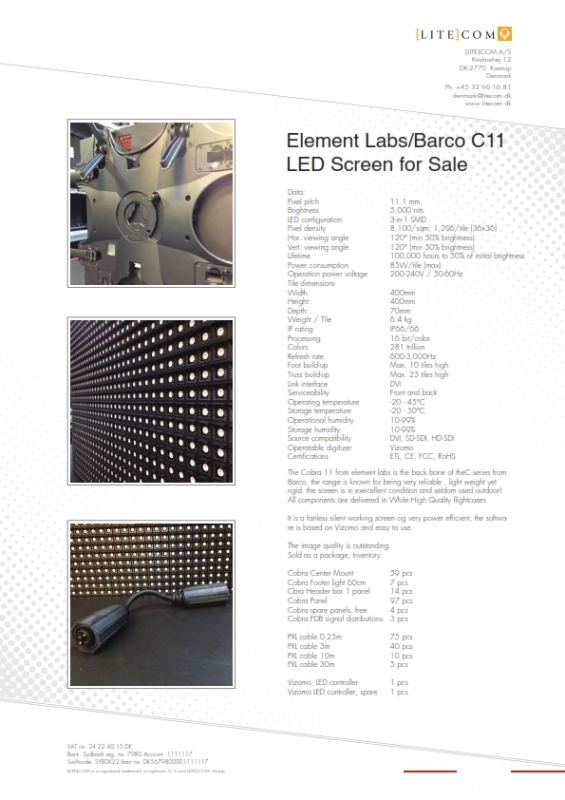 Used Cobra 11 from Element Labs