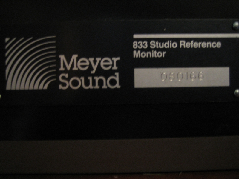 Used 833 from Meyer Sound