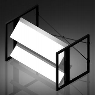 used led louver tower by vivid lighting solutions item 27854
