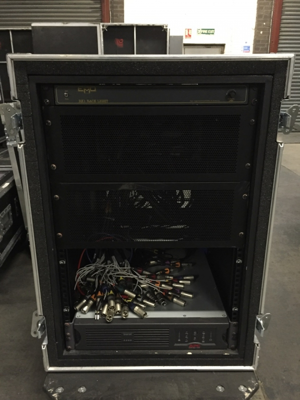 Used Split rack with UPS from Radial, 3d cases, SSE